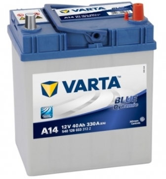 Аккумулятор Varta A14 Blue Dynamic (выс. яп.кл) 40 А/ч, о/п, 330А