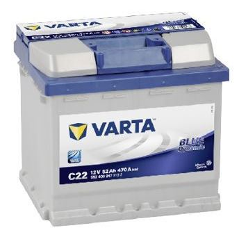 Аккумулятор Varta C22 Blue Dynamic 52 А/ч, о/п, 470А