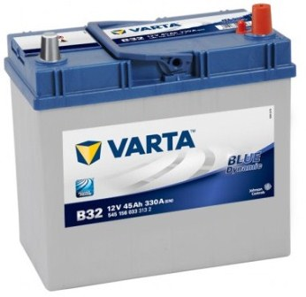 Аккумулятор Varta B32 Blue Dynamic (выс. тол.кл) 45 А/ч, о/п, 330А