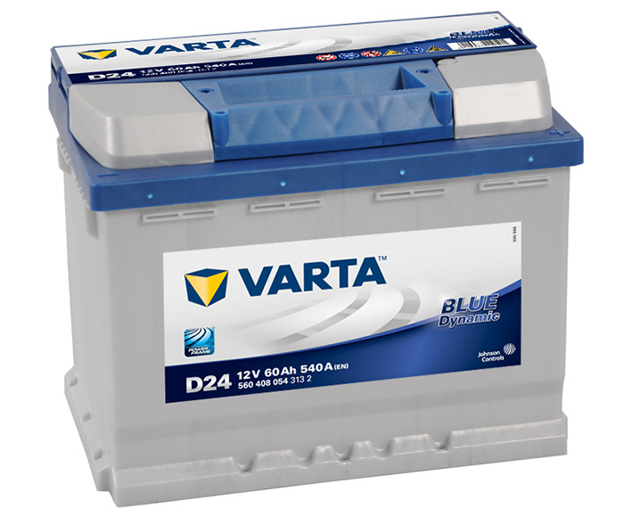 Аккумулятор Varta D24 Blue Dynamic 60 А/ч, о/п, 540А