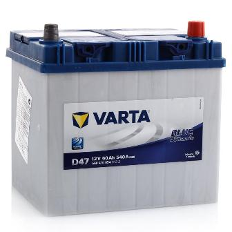 Аккумулятор Varta D47 Blue Dynamic (выс.) 60 А/ч, о/п, 540А