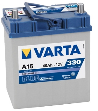 Аккумулятор Varta A15 Blue Dynamic (выс. яп.кл) 40 А/ч, п/п, 330А